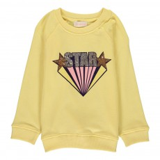 Sweat Sequins Star  Jaune