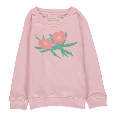 Sweat Brodé Flower Rose