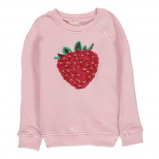 Sweat Fraise Sequins Rose pâle