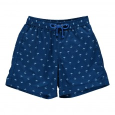 Short De Bain Parapluies All Over Bleu marine