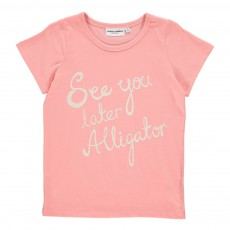 "T-Shirt ""See You Later Aligator"" Rose"
