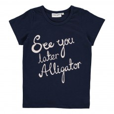 "T-Shirt ""See You Later Aligator"" Bleu marine"