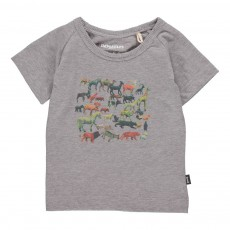 T-Shirt Animaux Gris chiné