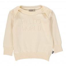 Pull Hello World Blanc