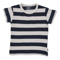 T-Shirt Rayé Regular Bleu nuit