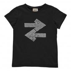 T-Shirt Impimé Frecce Noir