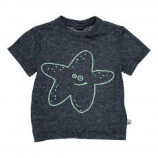 T-shirt Etoile De Mer Chuckle Bleu chiné