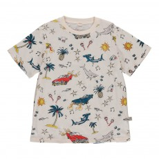 T-shirt Voitures-Requins Arlo Ecru