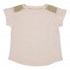 T-shirt Epaules Dorées Anais Rose pâle