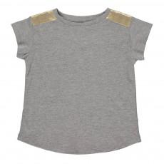 T-shirt Epaules Dorées Anais Gris