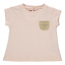 T-shirt Poche Dorée Anaé Rose pâle