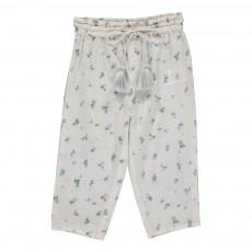 Pantalon Fleurs Valentina Blanc