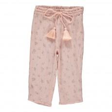 Pantalon Fleurs  Valentina Rose pâle