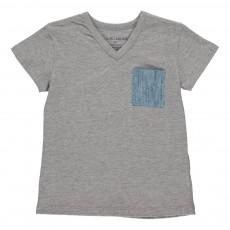 T-shirt Poche Colorée Sacha Gris