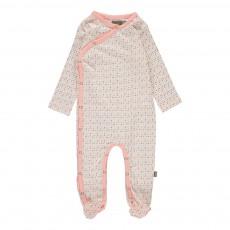 Pyjama Pieds Pois Becca Coton Bio Rose