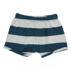 Short Rayé Sand Coton Bio Bleu marine