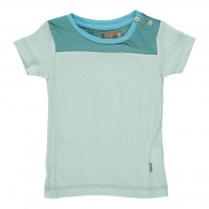 T-Shirt Boutons Larry Bleu