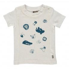 T-Shirt Imprimé Animaux Bieb Ecru