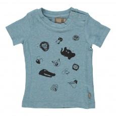 T-Shirt Imprimé Animaux Bieb Bleu pétrole