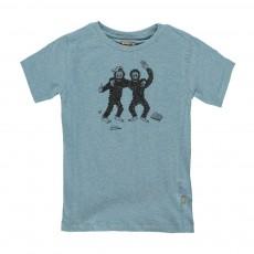 T-Shirt Singes Bieb Bleu pétrole