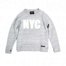 "Sweat ""NYC"" Hank Gris chiné"