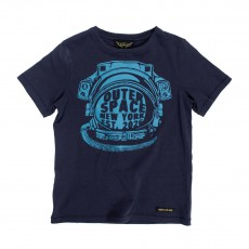 T-shirt Outer Space Dalton Bleu nuit