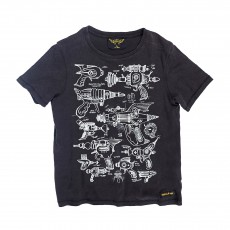 T-shirt Space Guns Dalton Noir