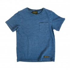 T-shirt Poche Dalton Bleu jean