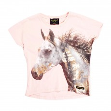 T-shirt Cheval Ebony Rose pâle