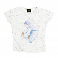 T-shirt Poisson Ebony Ecru chiné