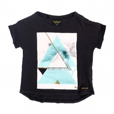 T-shirt Triangles Britney Noir