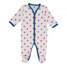 Pyjaman Pieds Etoiles Marin Blanc