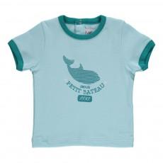 T-shirt imprimé Mekki Bleu ciel