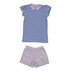 Pyjama Short Maora Bleu