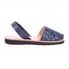 Sandales Avarca Paillettes Bleu marine