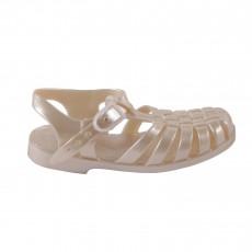 Sandales en plastique Ivoire
