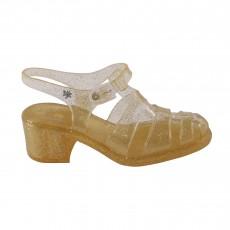 Sandales en plastique à talon Nikita Doré