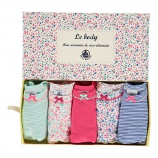 Lot de Cinq Bodies Manches Courtes Multicolore