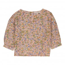 Blouse Fleurie Tome Rose pêche