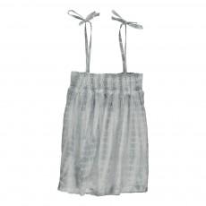 Top Tie&Dye Coton Et Soie Peace Gris perle
