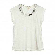 T-shirt Nouer Des Liens Blanc