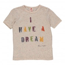 "T-shirt ""I Have A Dream"" Ecru chiné"