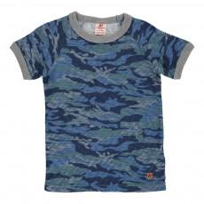 T-shirt Camouflage Bleu