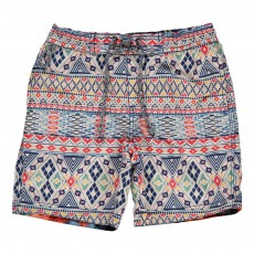 Short De Bain Ethnique Multicolore