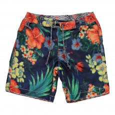 Short De Bain Tropical Multicolore