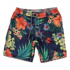 Short De Bain Tropical Multicolore