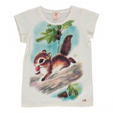 T-shirt Ecureuil Blanc
