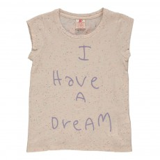 "T-shirt ""I Have A Dream"" Super Star Ecru chiné"