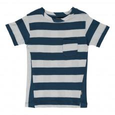 T-Shirt Rayé Sand Coton Bio Bleu marine