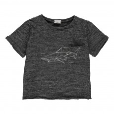 T-shirt Chiné Requin Gris chiné